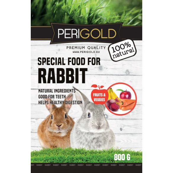 Perigold Rabbit Fruit&Veggies Food 800g